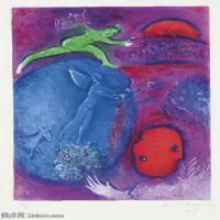 【打印级】YHR151642286-法国著名画家马克夏加尔Marc chagall抽象油画高清图片印象派油画作品图片-21M-2377X3208