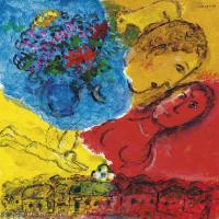 【打印級】YHR151642384-法國著名畫家馬克夏加爾Marc chagall抽象油畫高清圖片印象派油畫作品圖片-23M-2559X3215