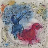 【打印级】YHR151642287-法国著名画家马克夏加尔Marc chagall抽象油画高清图片印象派油画作品图片-21M-2383X3200