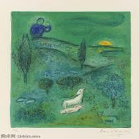 【打印级】YHR151642284-法国著名画家马克夏加尔Marc chagall抽象油画高清图片印象派油画作品图片-21M-2367X3217