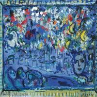 【打印級】YHR151642388-法國著名畫家馬克夏加爾Marc chagall抽象油畫高清圖片印象派油畫作品圖片-23M-3200X2578