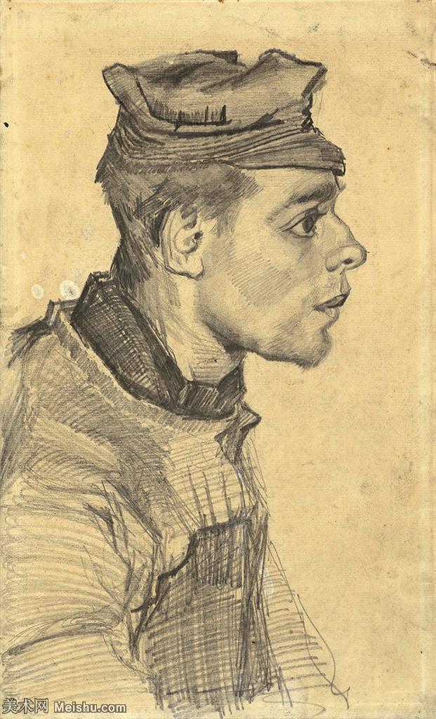【打印级】SMR181046071-著名荷兰后印象派画家文森特梵高Vincent van Gogh手稿素描作品图片-Ha