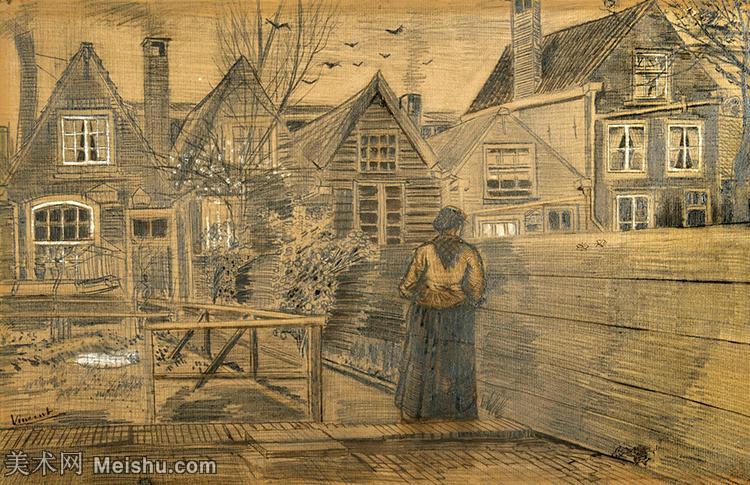 【欣赏级】SMR181046007-著名荷兰后印象派画家文森特梵高Vincent van Gogh手稿素描作品图片-Mo
