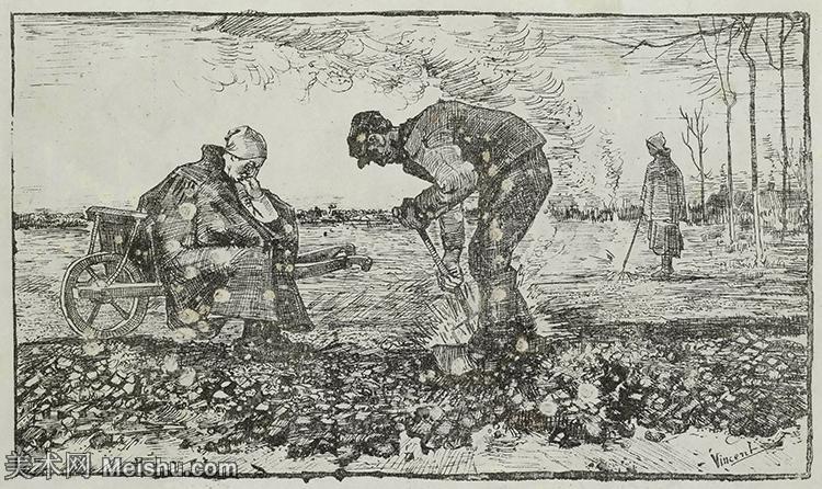 【打印级】SMR181046070-著名荷兰后印象派画家文森特梵高Vincent van Gogh手稿素描作品图片-Bu