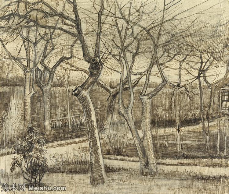 【印刷级】SMR181046128-著名荷兰后印象派画家文森特梵高Vincent van Gogh手稿素描作品图片-Th