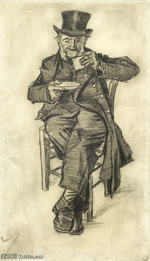【打印级】SMR181046067-著名荷兰后印象派画家文森特梵高Vincent van Gogh手稿素描作品图片-Ol