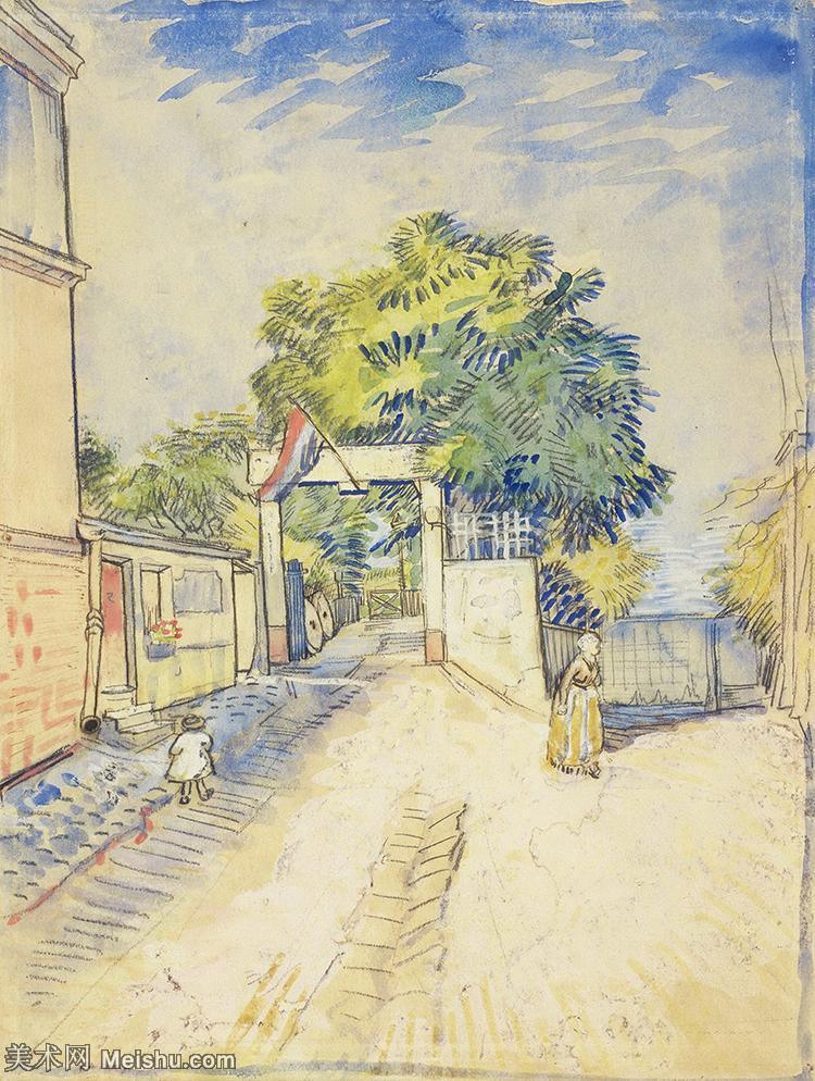 【打印级】SMR181046062-著名荷兰后印象派画家文森特梵高Vincent van Gogh手稿素描作品图片-En