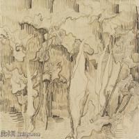 【打印级】SMR181046105-著名荷兰后印象派画家文森特梵高Vincent van Gogh手稿素描作品图片-Arums-38M-4200X3174