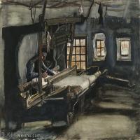 【打印级】SMR181046119-著名荷兰后印象派画家文森特梵高Vincent van Gogh手稿素描作品图片-Weaver66-39M-4200X3288