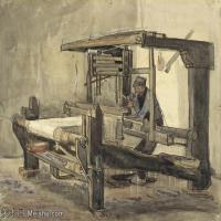 【打印级】SMR181046103-著名荷兰后印象派画家文森特梵高Vincent van Gogh手稿素描作品图片-Weaver77-37M-4200X3146