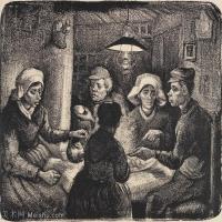 【印刷级】SMR181046130-著名荷兰后印象派画家文森特梵高Vincent van Gogh手稿素描作品图片-The Potato Eaters22-41M-4168X3500