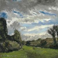 【欣赏级】SMR181046010-著名荷兰后印象派画家文森特梵高Vincent van Gogh手稿素描作品图片-Landscape with Dunes-8M-2048X1431