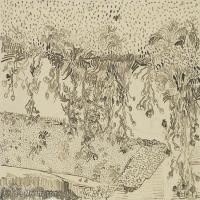 【打印级】SMR181046109-著名荷兰后印象派画家文森特梵高Vincent van Gogh手稿素描作品图片-Thistles Along the Roadside-38M-4200X3190