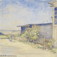 【印刷级】SMR181046140-著名荷兰后印象派画家文森特梵高Vincent van Gogh手稿素描作品图片-Shed with Sunflowers-46M-3500X4596