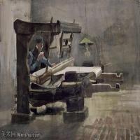 【欣赏级】SMR181046026-著名荷兰后印象派画家文森特梵高Vincent van Gogh手稿素描作品图片-Weaver 35-16M-2863X1971
