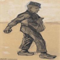 【欣赏级】SMR181046024-著名荷兰后印象派画家文森特梵高Vincent van Gogh手稿素描作品图片-Sower111-15M-1697X3200