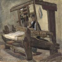 【打印级】SMR181046120-著名荷兰后印象派画家文森特梵高Vincent van Gogh手稿素描作品图片-Weaver22-39M-4200X3310