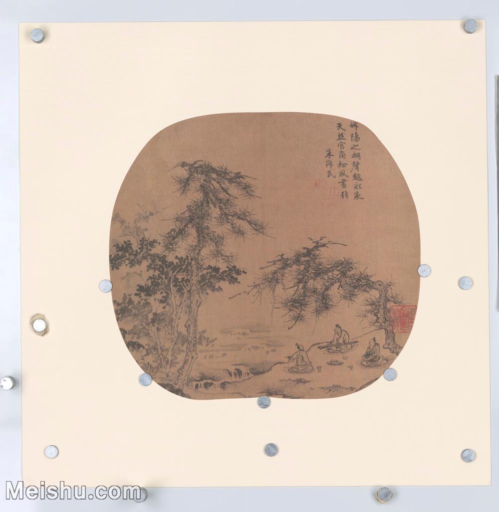 【印刷级】GH6080887古画树木植物-宋代朱泽民水墨山水-高山流水元人画册-小品图片-101M-5872X6035.