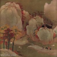 【印刷级】GH6156229古画宋人册页 山水图片-36M-3187X4029
