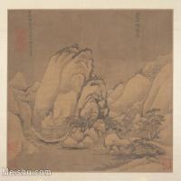 【印刷级】GH6081104古画山水风景古代-岩石积雪图小品图片-39M-4000X3415