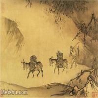 【印刷级】GH7280326古画人物马远晓雪山行图册镜片图片-156M-8900X6148