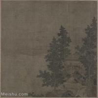 【印刷级】GH6080854古画树木植物水阁风凉图页-宋-佚名国画水墨-25x26.5-50x53-风景-建筑-小品图片-48M-3979X4234