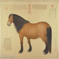 【印刷级】GH6155055古画立轴动物清 郎世宁 御马图图片-30M-3353X3128