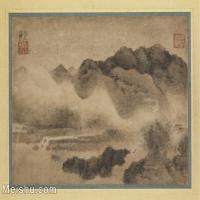 【印刷级】GH6081252古画山水风景晖山水图-高然国画水墨-33x25-66x50-云雾缭绕-小品图片-49M-6402X5018