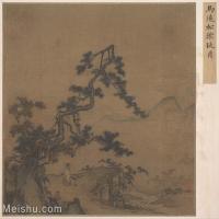 【印刷级】GH6081116古画山水风景南宋马远松阴玩月小品图片-36M-3787X3409