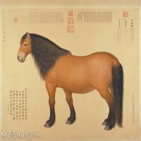 【印刷级】GH6155053古画立轴动物御马图-清-郎世宁国画水墨图片-134M-7087X6611