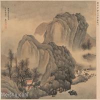 【印刷级】GH6081159古画山水风景清代樊圻花卉纸本33x25-8小品图片-29M-3900X3040