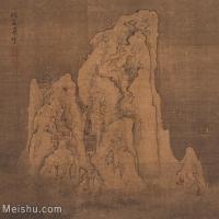 【印刷级】GH6156238古画袁江-册页峨嵋飞雪(中国美术馆)山水小品图片-20M-2800X2597