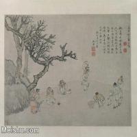【印刷级】GH7280373古画人物明 张宏 击缶图轴镜片图片-53M-4791X3937