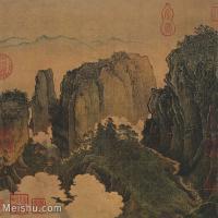 【印刷级】GH6081166古画山水风景-关山行旅-国画水墨-27x25-54.5x50-小品图片-63M-4249X3905