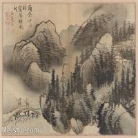 【印刷级】GH6081110古画山水风景古代-活毫子树林木河流小品图片-29M-3755X2730