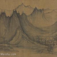 【印刷级】GH6081256古画山水风景江山无尽图-佚名国画水墨-29x25-41x35-群山-小品图片-16M-3287X2820
