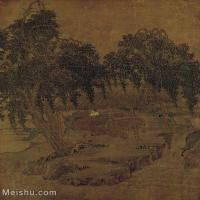 【印刷级】GH6156227古画宋人册页 山水图片-37M-3407X3835