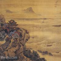 【印刷级】GH6156233古画清 袁江 观潮图 故宫博物院藏山水小品图片-44M-4667X3331