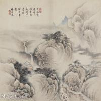 【印刷级】GH6081122古画山水风景清代杨恢基山水墨小品小品图片-70M-5300X4676