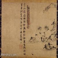 【印刷级】GH7280314古画人物元 因陀罗 寒山拾得图 东京国立博物馆镜片图片-130M-7902X5793