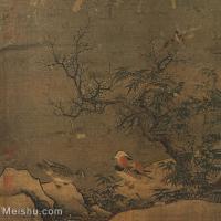 【印刷级】GH6081221古画山水风景寒林鸳鸟-国画水墨-26x25-41.5x40-林中鸳鸯-小品图片-58M-3997X3843