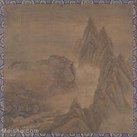 【印刷级】GH6081112古画山水风景古代-崇山峻岭小品图片-39M-3837X3643