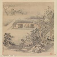 【印刷级】GH6081111古画山水风景古代树林木房屋建筑风景小品图片-29M-2707X3816_18342316