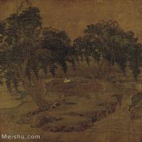 【印刷级】GH6156223古画宋人册页 山水图片-36M-3366X3787