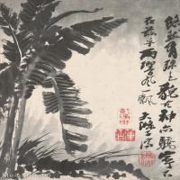 【印刷级】GH6060900古画二玄社-清-石涛-花卉册(12幅)-(6)册页图片-65M-2372X3644_56946792