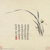 【欣赏级】GH6061291古画石涛花卉册十帧(10)-花卉-兰花册页图片-13M-1782X2700