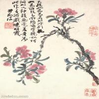 【印刷级】GH6060897古画二玄社-清-石涛-花卉册(12幅)-(2)册页图片-58M-2362X3634_56943578