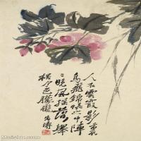 【欣赏级】GH6061296古画石涛花卉册十帧(6)-清初-花卉-植物册页图片-13M-1779X2700_56043109