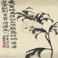 【欣赏级】GH6061294古画石涛花卉册十帧(4)-清初-花卉-植物册页图片-13M-1751X2700_56041003