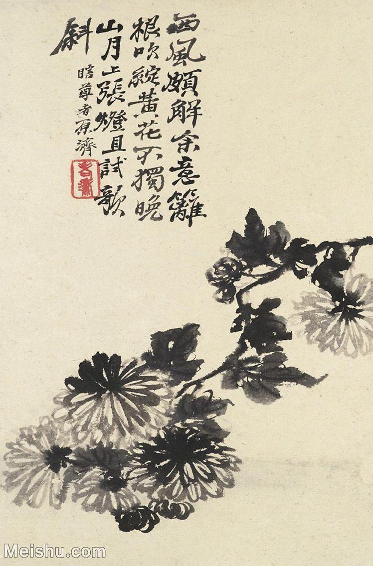【印刷级】GH6062445古画石涛花卉册(5)册页图片-43M-3178X4823_57188141.jpg